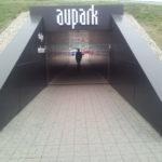 Podchod pre chodcov a cyklistov pri Auparku v Bratislave v dnešnej podobe