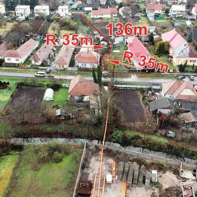 Tekovské Lužany - GRAVITAČNÁ KANALIZÁCIA v dĺžke 136 m v spáde 0.6%
