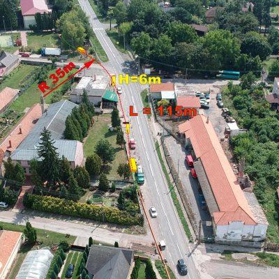 Tekovské Lužany -GRAVITAČNÁ KANALIZÁCIA so šachtami po 50 m v dĺžke 115 m v spáde 0.8%