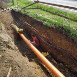 Vtiahnutie plynovodného potrubia HDPE 255 mm do OC DN 300 mm v celkovej dĺžke 434 m